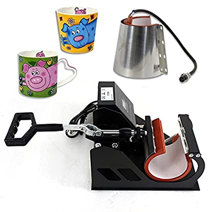 Super Deal Pro 2 in 1 Mug Cup Heat Transfer Sublimation Heat Press Machine W//Two Mug Attachments 11OZ 12OZ