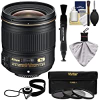 Nikon 28mm f/1.8G AF-S Nikkor Lens with 3 UV/ND8/CPL Filters + Kit for D3200, D3300, D5200, D5300, D7000, D7100, D610, D800, D810 & D4s DSLR Cameras