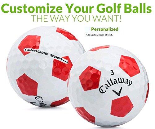 Callaway Truvis ゴルフボール 赤と白 1ダース カスタマイズ可 ギフトに最適 B07J5P4TW6