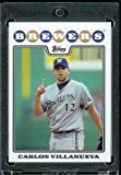 Carlos Villanueva - Milwaukee Brewers - 2008 Topps Updates & Highlights Baseball Card in Protective Screwdown Display Case!