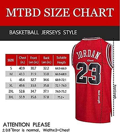MTBD NBA Michael Jordan, NO.23 Bulls Retro, Camiseta de Jugador de ...
