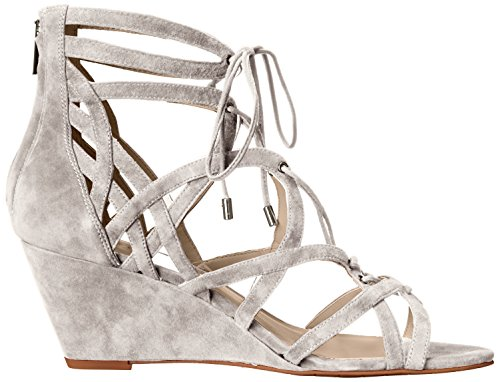 Women's New York Dylan Sandal Wedge Light Grey Cole Kenneth Suede qt4Rff
