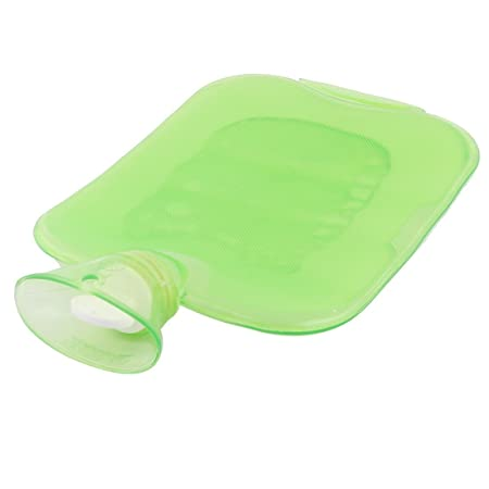 Amazon.com: eDealMax Familia PVC invierno Viajes El calentamiento de almacenamiento de agua Caliente Bolsa Verde Botella 1700 ml: Health & Personal Care