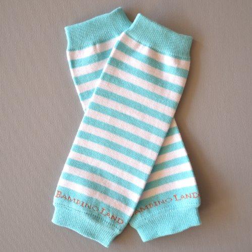 Blue Organic Cotton Baby Leg Warmers Bambino Land