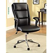 1PerfectChoice Clairton Office Computer Executive Task Square Chair Padded PU High Back Armrest