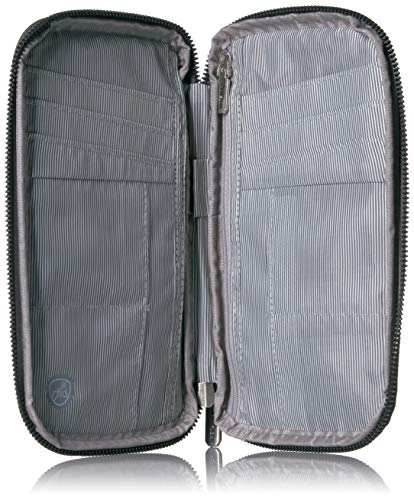 51dqWU2ijLL - Travelon RFID Blocking Family Passport Zip Wallet, Gray Heather