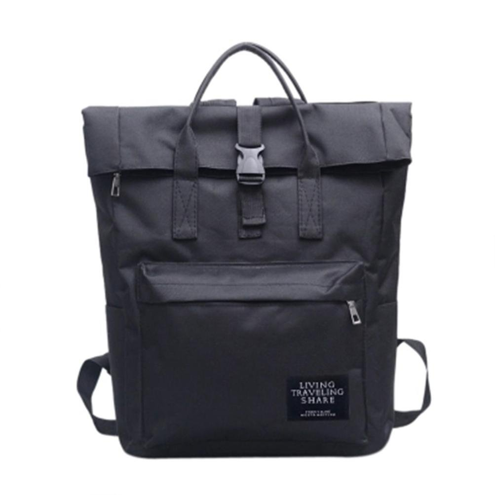 Women Backpack Handbag School Bag Portable Travel Backpack Shoulder Outdoor Beach Bag (Black)