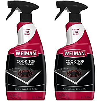 Weiman Cook Top Daily Cleaner Spray - 12 Ounce 2 Pack - Professional Home Kitchen Cooktop Cleaner and Polish Use On Induction Ceramic Gas Portable Electric