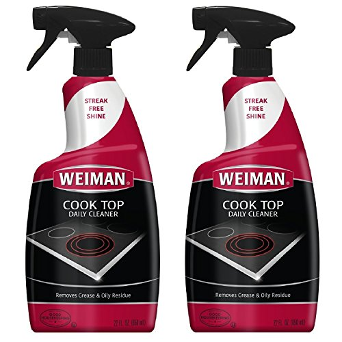 Ge Professional Range - Weiman Cook Top Daily Cleaner Spray - 12 Ounce 2 Pack - Professional Home Kitchen Cooktop Cleaner and Polish Use On Induction Ceramic Gas Portable Electric