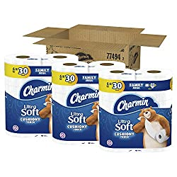 Charmin Ultra Soft Toilet Paper, Family Mega Roll with Cushiony Touch