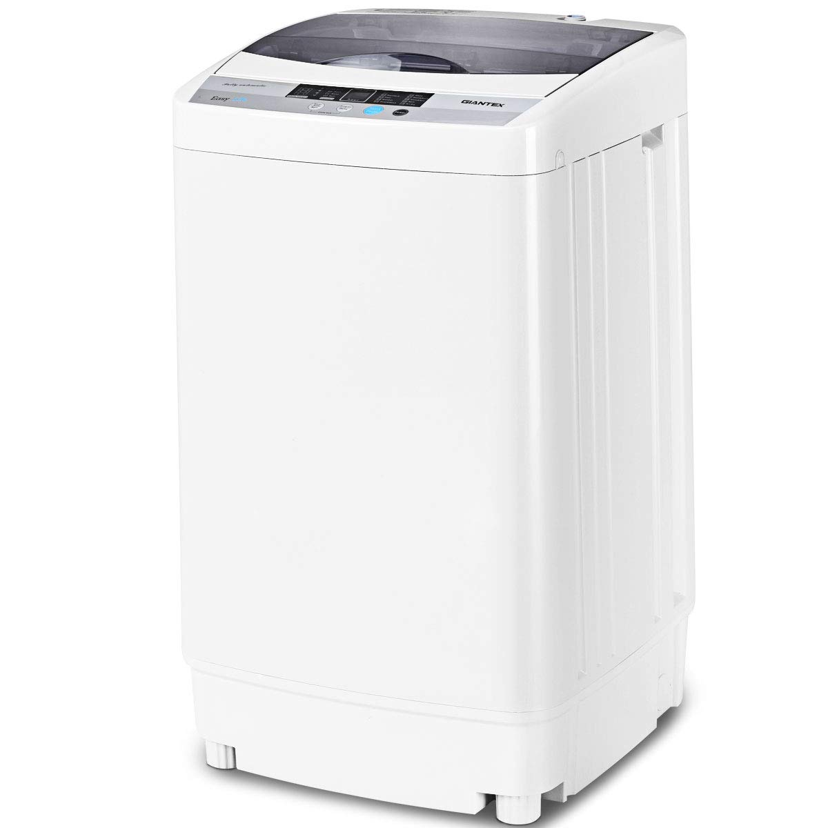 Giantex Portable Compact Full-Automatic Washing Machine 1.6 Cu.ft Laundry Washer Spin with Drain Pump EP23113