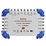 Tuorbot 9 x 8 Satellite Multiswitch Min-Max 9-In/8-Out for FTA Receiver
