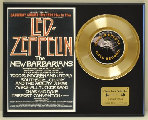 LED ZEPPELIN Limited Edition Gold 45 Record Display. Only 500 made. Limited quanities. FREE US SHIPPING