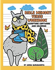 Bible Memory Verse Workbook Scripture Copywork and Coloring: Activity Book to Help Kids ages 7 to 10 Memorize God's Word