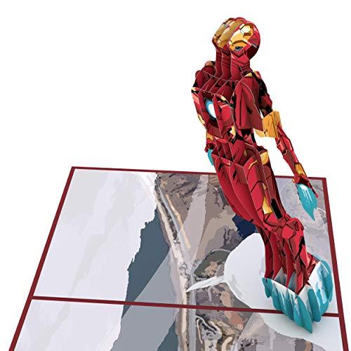 Lovepop Marvel's Iron Man 3D Pop Up Greeting Card, Iron Man Pop Up Birthday Card, Superhero Card -