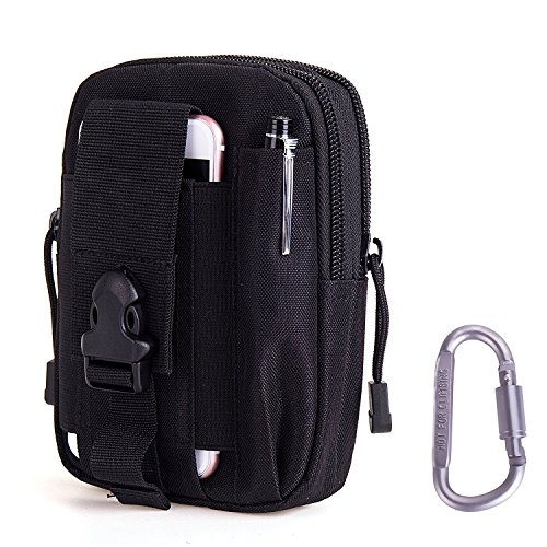 LUZWAY Tactical MOLLE EDC Pouch Utility Gadget Belt Waist Bag with Cell Phone Holster Holder-Black