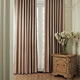 "IYUEGO Modern Simple Stripe Grommet Top Lining Blackout Curtains Draperies With Multi Size 100"" W x 108"" L (One Panel)"