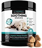 PetHonesty Calming Treats for Dogs – All-Natural Soothing Snacks with Hemp + Valerian Root, Stress & Dog Anxiety Relief, Calming Aid for Dogs Helps Travel, Separation, Car Rides, Thunderstorms, 90ct For Sale