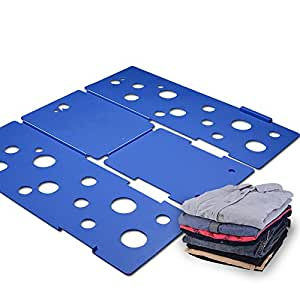 BoxLegend Clothes/T Shirt Folder Blue Plastic 4mm Thickness Shirt Folding Board Easy and Fast Laundry Folder flipfold rack