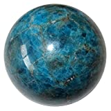 Apatite Ball 76 Blue Muse Mosaic Artist's Inspiration Stone Motivational Sphere Crystal Rock 2.3''