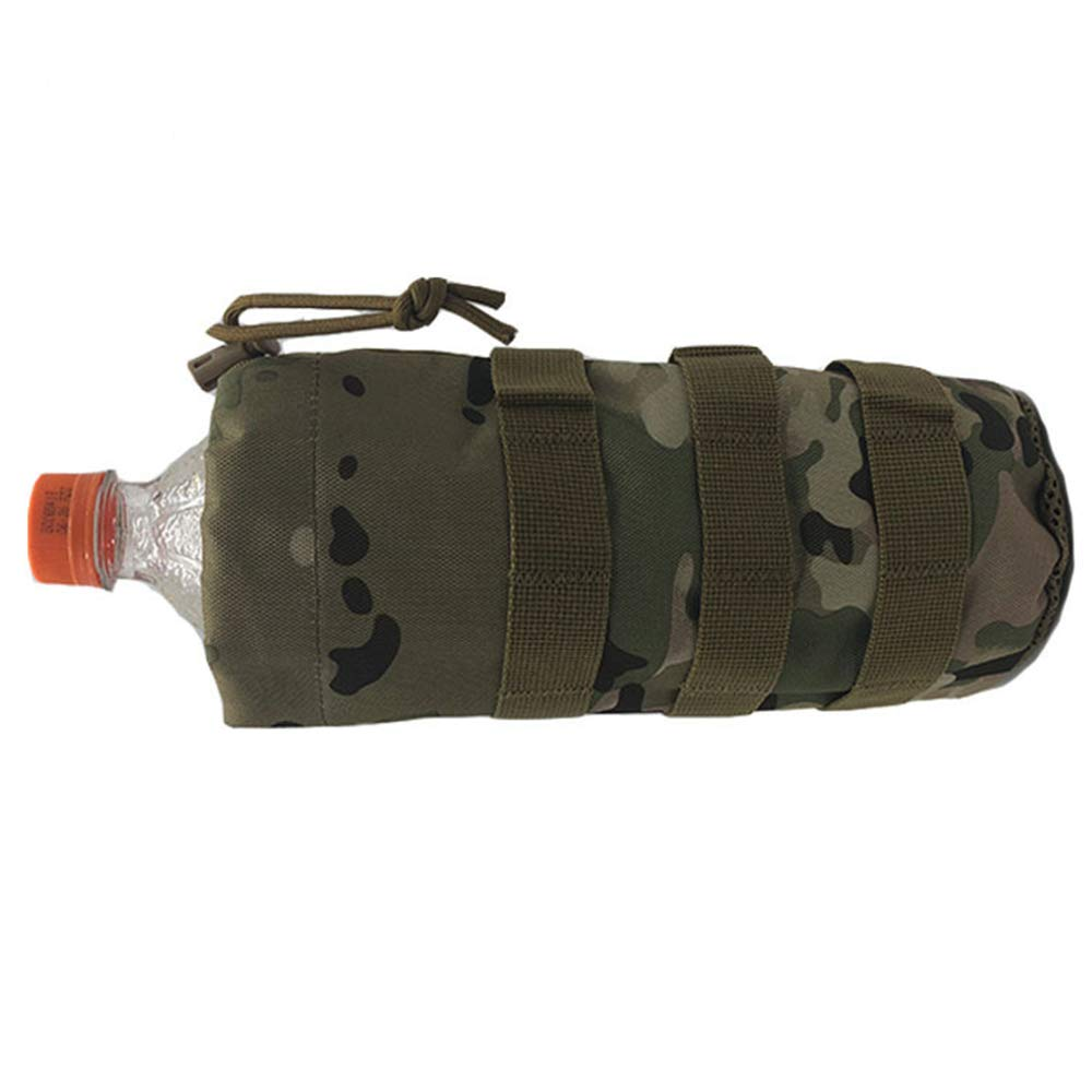 Ogquaton 1 Unids T/áctico Militar Botella de Agua Bolsa de Bebidas Multifunci/ón Botella Camuflaje Bolsa de Nylon Hervidor Titular de la Bolsa