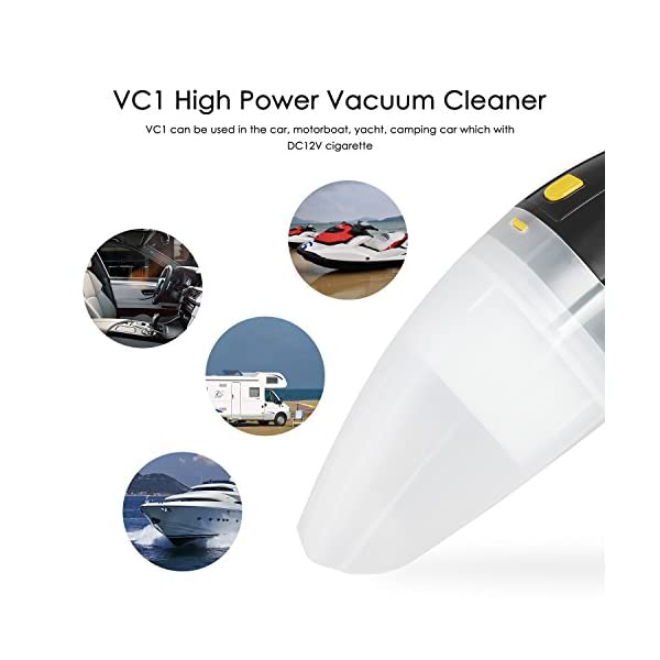 AUTO VOX Car Vacuum Cleaner DC 12V 96W Portable Handheld Wet Dry Auto Car Vaccuum Dustbuster 32Kpa Suction With Cigarette Lighter Plug 124 Ft Power Cord For Car