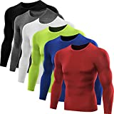 Neleus Men's Dry Fit Athletic Compression Shirt Pack of 3