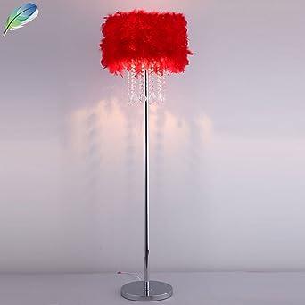 Cristal K9 lámpara de pie romántica Muelle Dormitorio pie ...