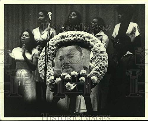 1978 Press Photo Gospel singers at a Martin Luther King Jr. memorial service (Martin Luther King Alpha Phi Alpha Fraternity)