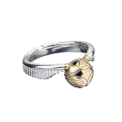 Official Harry Potter Stainless Steel Golden Snitch Ring xMfvQE5YR
