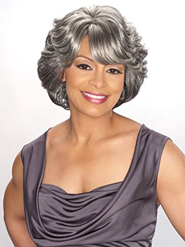 Foxy Silver Synthetic Wig - ()