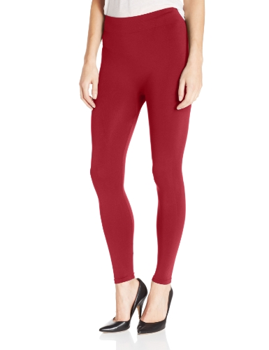 Nine West Women's Basic Seamless Legging, Wine, Small/Medium by Nine West