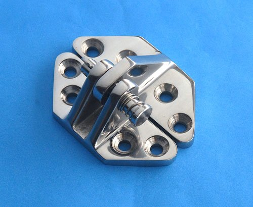 Boat Hinge Removable Pin - Hatch Locker Short Arm 2-7/8'' - Marine 316 Stainless Steel
