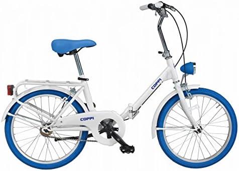 Fausto Coppi Bicicleta Plegable Glamour Blanco/Azul: Amazon.es ...