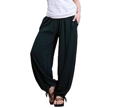 huateng Pantalones de Yoga Estilo étnico de la Mujer ...