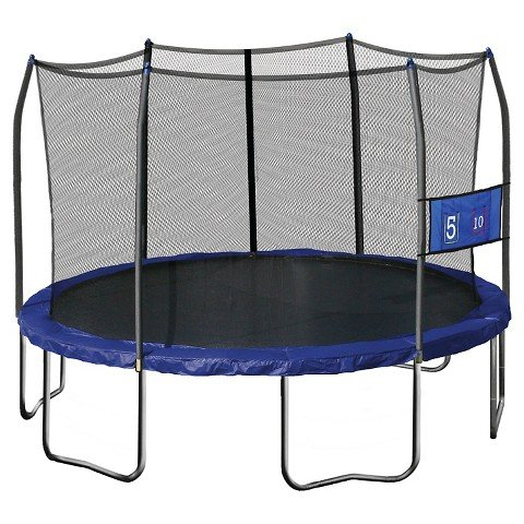 Skywalker-Trampolines-12-Jump-N-Toss-Round-Trampoline-with-Enclosure-Blue