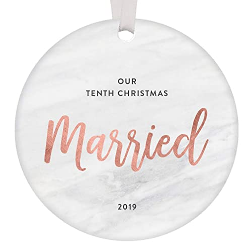 Amazon Com Our 10th Christmas Married 2019 Ornament 10