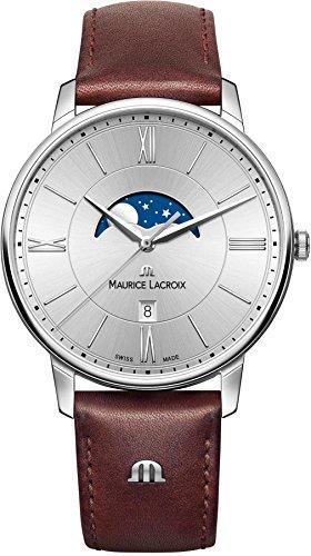 Maurice Lacroix Eliros MOONPHASE Mens Wristwatch Lunar Phase Indicator