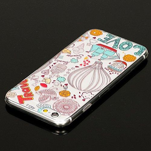 iPhone 6 6S Hülle Handyhülle von NICA, Slim Silikon Motiv Case Crystal Schutzhülle Dünn Durchsichtig, Etui Handy-Tasche Back-Cover Transparent Bumper für Apple iPhone 6S 6 - Love and Travel