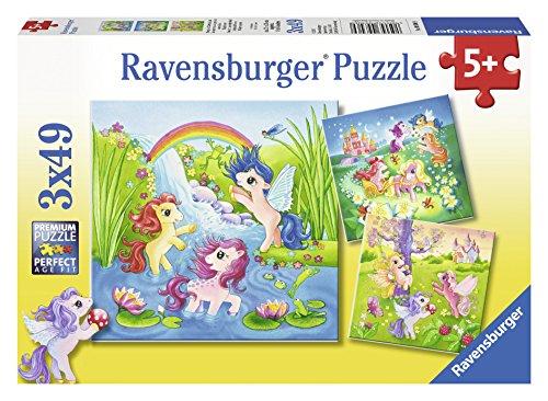 Fairyland Ponies - (3 x 49) Piece Jigsaw Puzzles