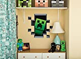 JINX Minecraft Creeper Inside (Plus Pig and Cow) Removeable Wall Cling Decal Sticker for Kids Room