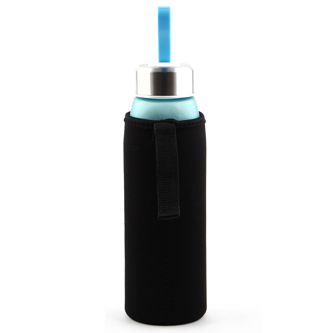 Amazon.com: eDealMax Spandex Inicio térmicamente aislada Manos protector reutilizable taza de cristal de la manga de la Copa Negro: Kitchen & Dining