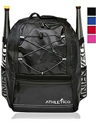 Athletico Youth Baseball Bat Bag - Backpack for Baseball, T-Ball & Softball Equipment & Gear for Boys & Girls...