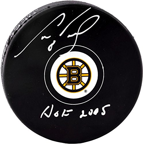 Cam Neely Boston Bruins Autographed Logo Puck with HOF 2005 Inscription - Fanatics Authentic Certified