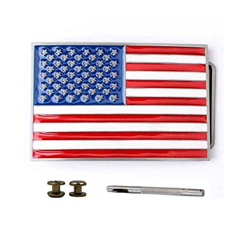 American Standard Flag - TOME American Standard Flag Belt Buckle USA 50 Stars Belt Buckles For Wide Belt 40MM