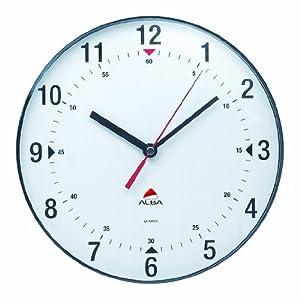 Alba Horclas, Reloj de Cuarzo Clásico de Pared, Plástico, Negro y Blanco, 25 cm 1