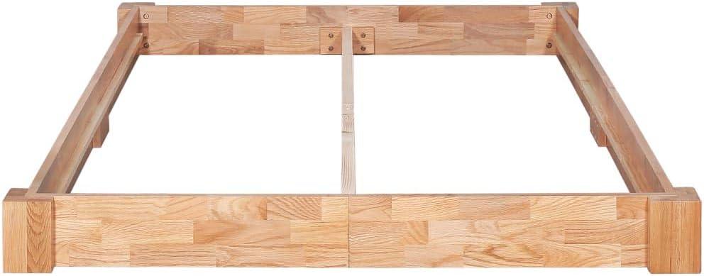 Retrome Cadre de lit Lit de Plate-Forme Bois de ch/êne Massif Style Rustique laqu/é 140x200 cm pour Adultes//Enfants Maison Salon Chambre