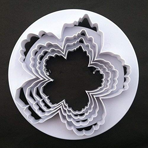 Bigger Peony Petals Cutter, 4pcs/set Gum Paste Flowers Cake Decorating Cutter Fondant Mold Sugar Tools Brand Fly other
