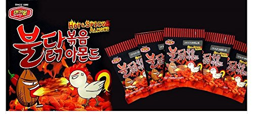 (MURGERBON Hot & Spicy Almonds 30g x 10 Packs )