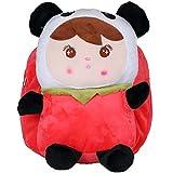 Donalworld Kids PU Leather Backpack Strawberry Panda Fruit Cartoon Bag Pattern3